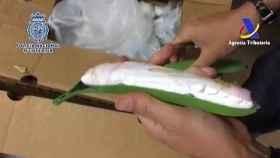 Una banana con cocaína en su interior en el marco de otra operación desarrollada en Algeciras en 2016.