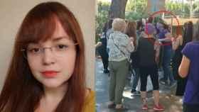 Laura, la mujer agredida en Murcia por manifestarse contra la ley Trans.