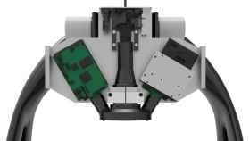 Diseño detallado de la plataforma Q-LEAF con los diferentes sensores ópticos 2D y 3D integrados.