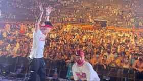 Cantantes de reguetón en el polémico concierto de la plaza de toros de Palma
