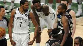 Kevin Durant durante el partido de la NBA entre Bucks y Nets