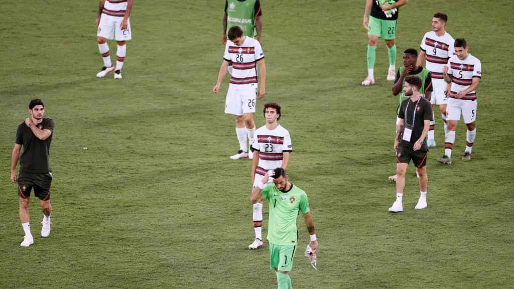 Los jugadores de Portugal rotos tras la eliminación de la Eurocopa