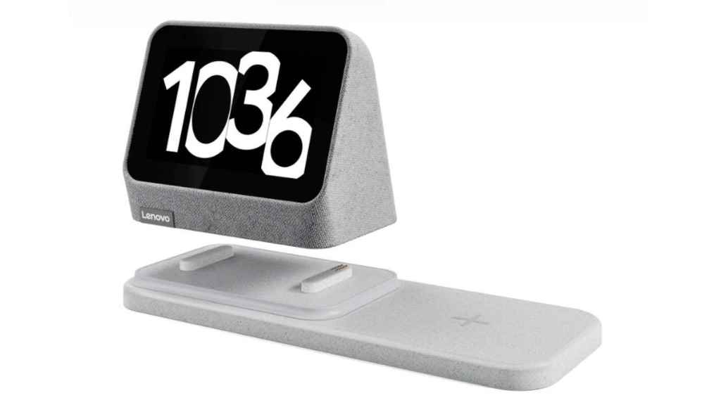 Lenovo Smart Clock 2 con su base de carga inalámbrica
