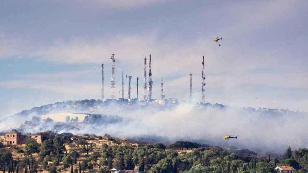 """La Policía Nacional detiene a cinco personas por su implicación en el incendio del Parque Forestal """"La Atalaya"""" (Ciudad Real)"""