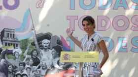 Irene Montero  durante el acto de entrega de los 1º Reconocimientos Arcoíris.