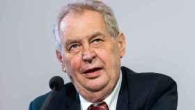 Milos Zeman, presidente de la República Checa.