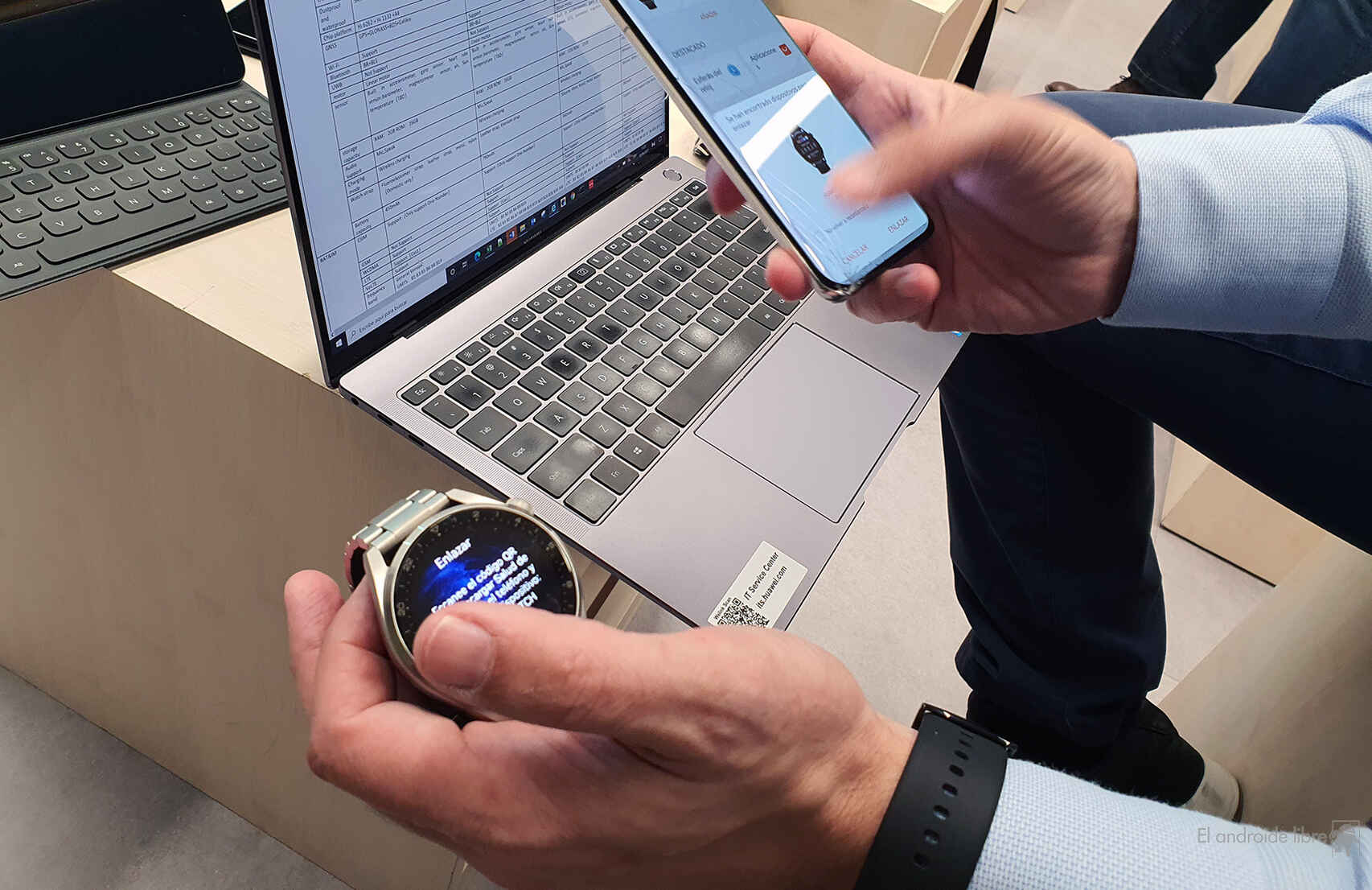 Vinculando el Huawei Watch 3
