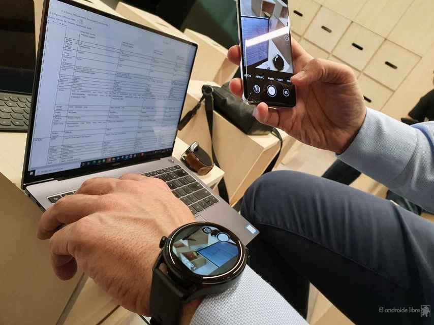 La cámara del móvil conectado en el Huawei Watch 3