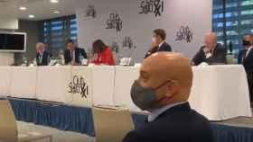 El ministro principal de Gibraltar, Fabián Picardo, en el acto que ha boicoteado Vox.