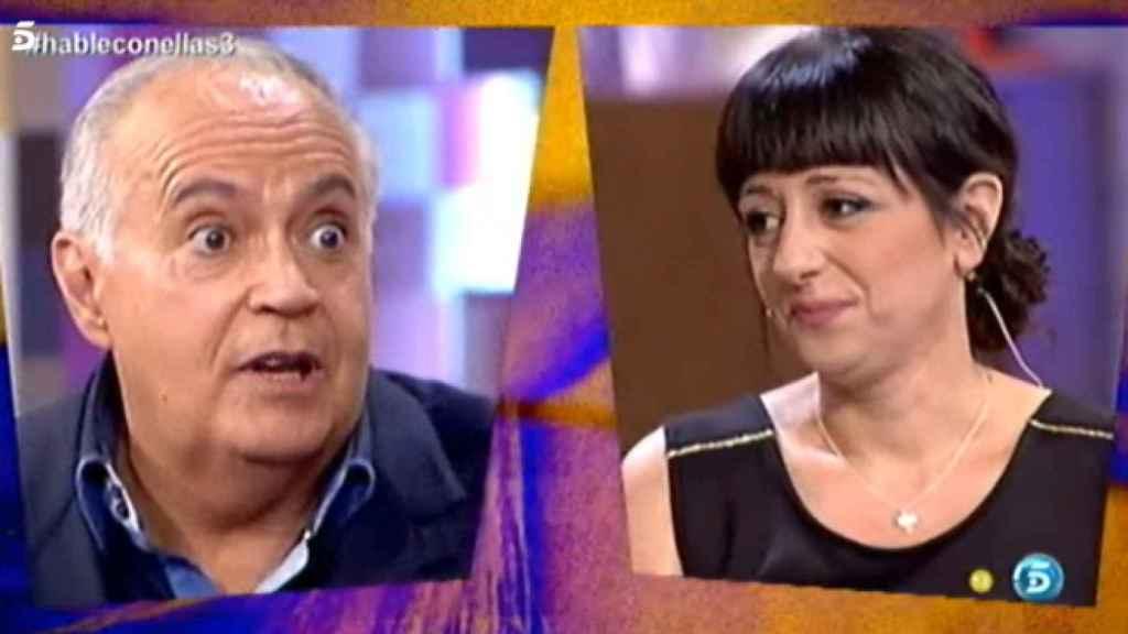 El tenso encuentro del empresario y Yolanda Ramos, durante 'Hable con ellas'.
