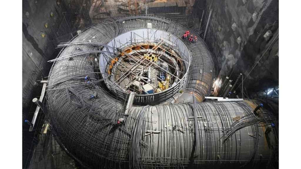 Turbina de la central Baihetan