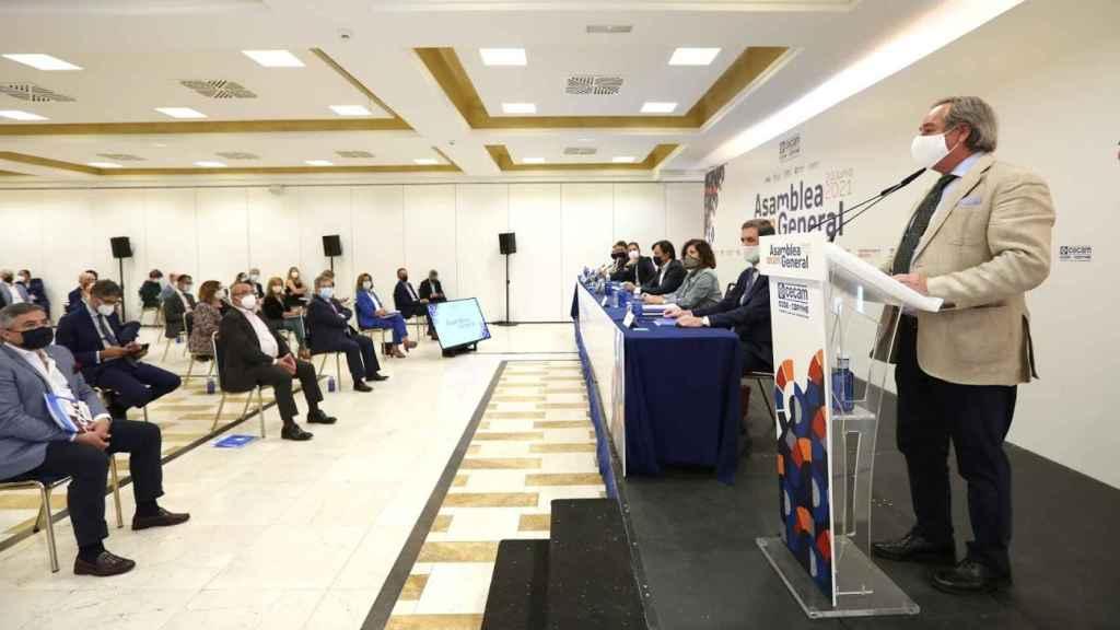 Ángel Nicolás durante el discurso.