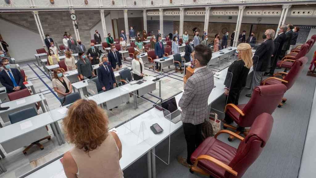 Pleno de la Asamblea antes de iniciarse el Debate del Estado de la Región.