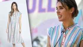 Irene Montero lució este lunes un vestido con los colores de la bandera LGTBIQ+.