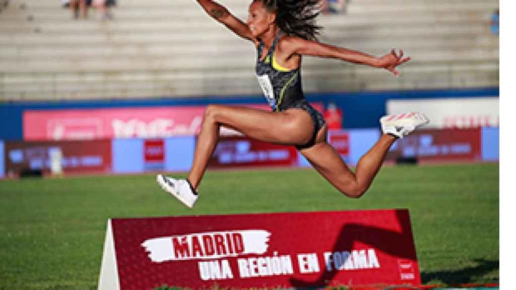 Ana Peleteiro en el Campeonato de España de atletismo de Getafe