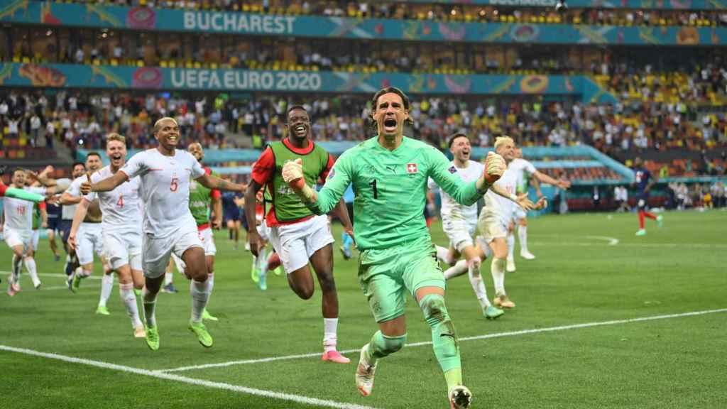 Yann Sommer, héroe de la selección de Suiza en el partido ante Francia de octavos de la Eurocopa 2020
