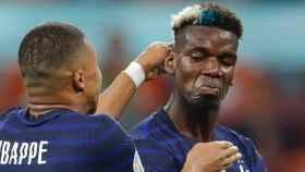 Kylian Mbappé y Paul Pogba, en un partido de la selección de Francia en la Eurocopa 2020