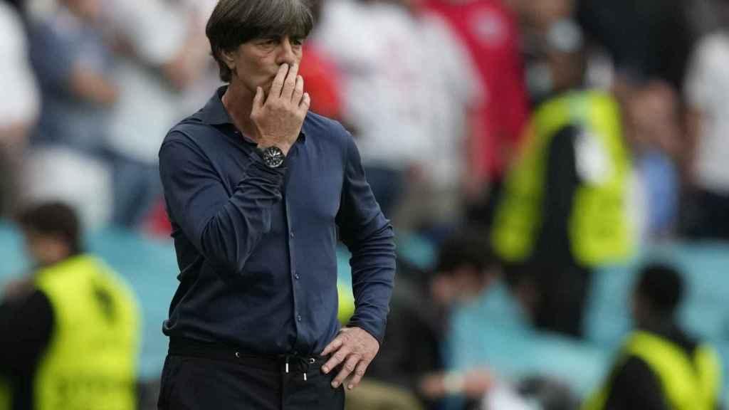 Joachim Löw, en la banda de Wembley durante el partido de octavos de la Eurocopa 2020