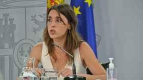 Irene Montero, ministra de Igualdad, en la rueda de prensa posterior al Consejo de Ministros, en Moncloa.