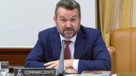 El presidente de la CNMV, Rodrigo Buenaventura, en su comparecencia en el Congreso.