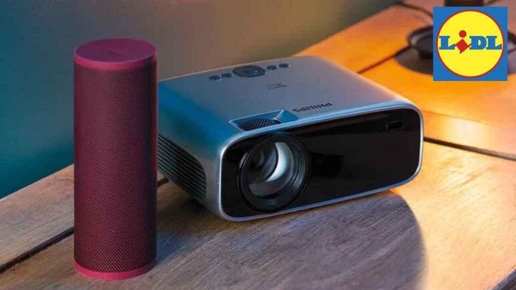Lidl tiene a la venta un nuevo proyector barato.