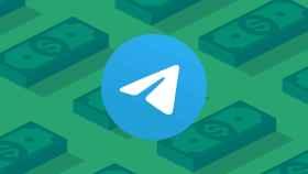 Telegram en un fotomontaje con dinero.