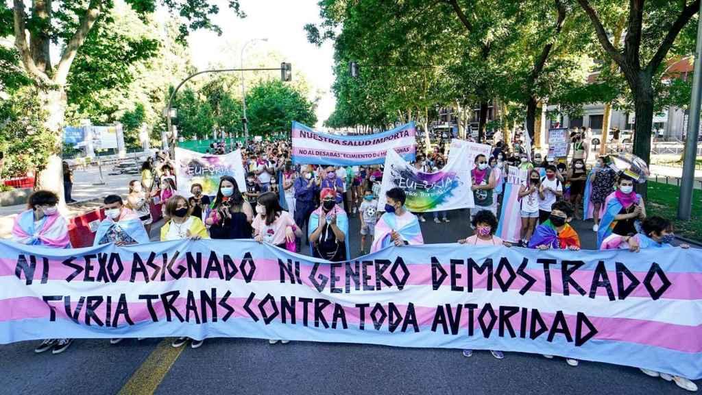 Manifestación trans.