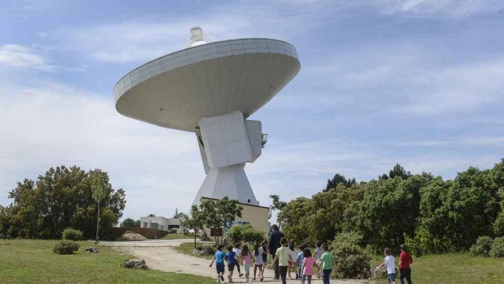 Antenas en AstroYebes. Foto: Ayuntamiento de Yebes (Guadalajara).