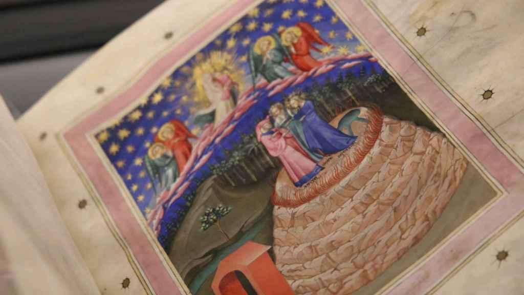 Dante, Estacio y Beatriz en la cumbre del Purgatorio