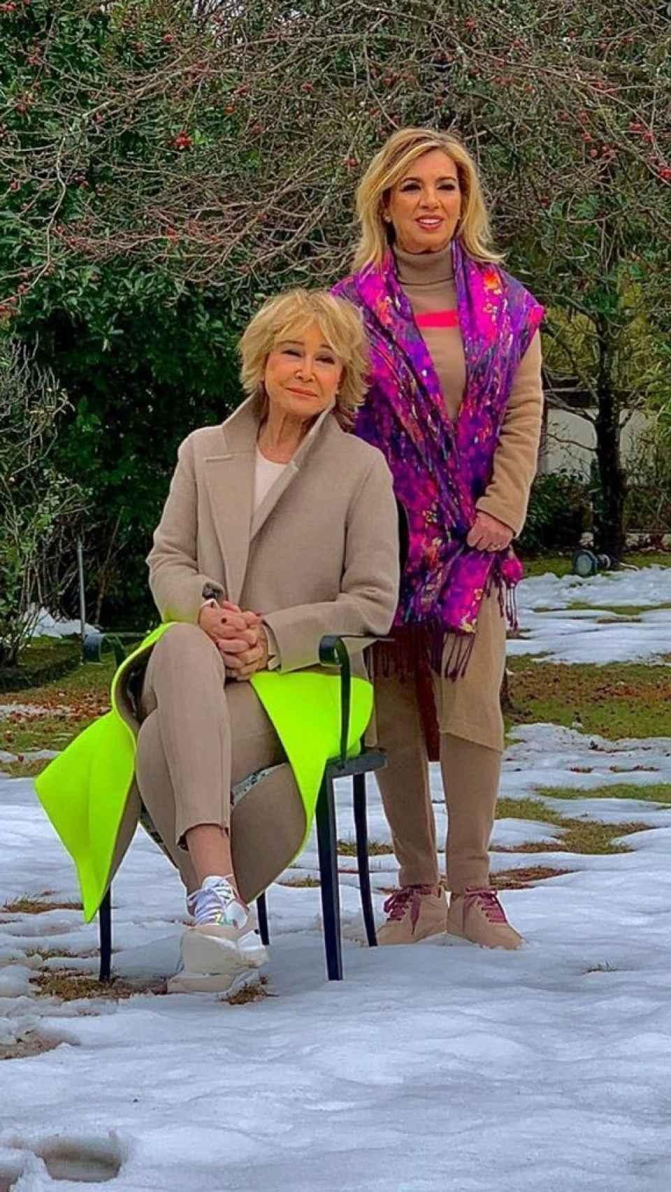 Carmen Borrego, junto a Mila Ximénez en una foto publicada por la hija de María Teresa Campos.