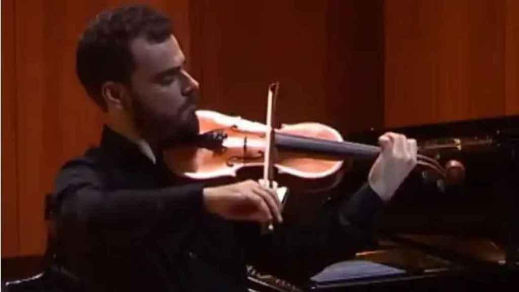 Pablo Díaz durante un concierto.