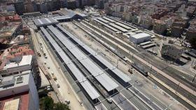 Panorámica de la estación de Alicante.