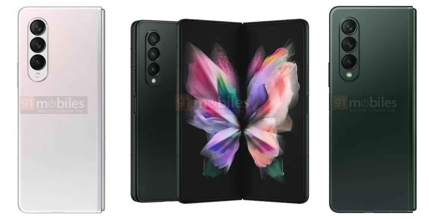 El Galaxy Z Fold 3 se lanzará en estos colores: nuevas fotos