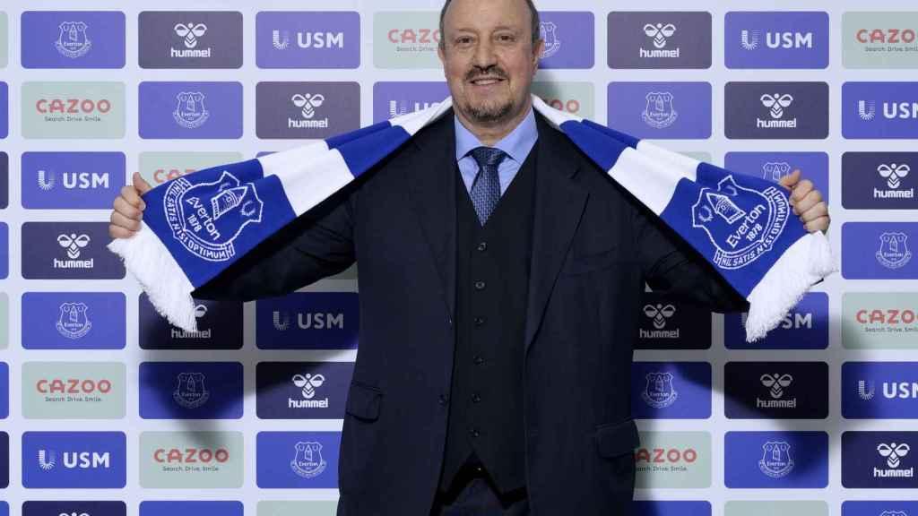 Rafa Benítez, en su presentación como nuevo entrenador del Everton