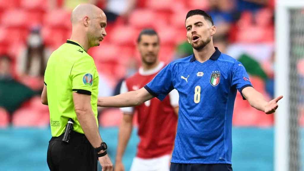 Jorginho, en un partido de la selección de Italia en la Eurocopa 2020