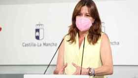 Blanca Fernández este miércoles durante la rueda de prensa (Ó. HUERTAS)