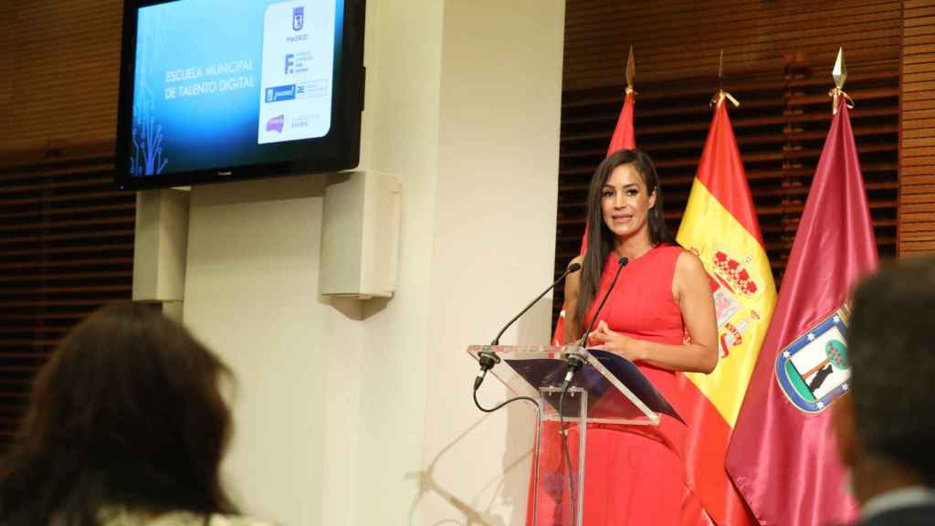 La vicealcaldesa, Begoña Villacís, durante la presentación del proyecto.