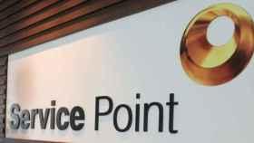 Rótulo de Service Point.