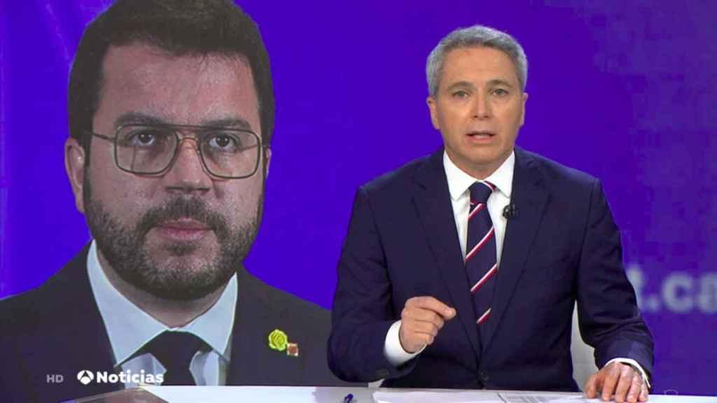 Vicente Vallés en su exitosa intervención de este martes.