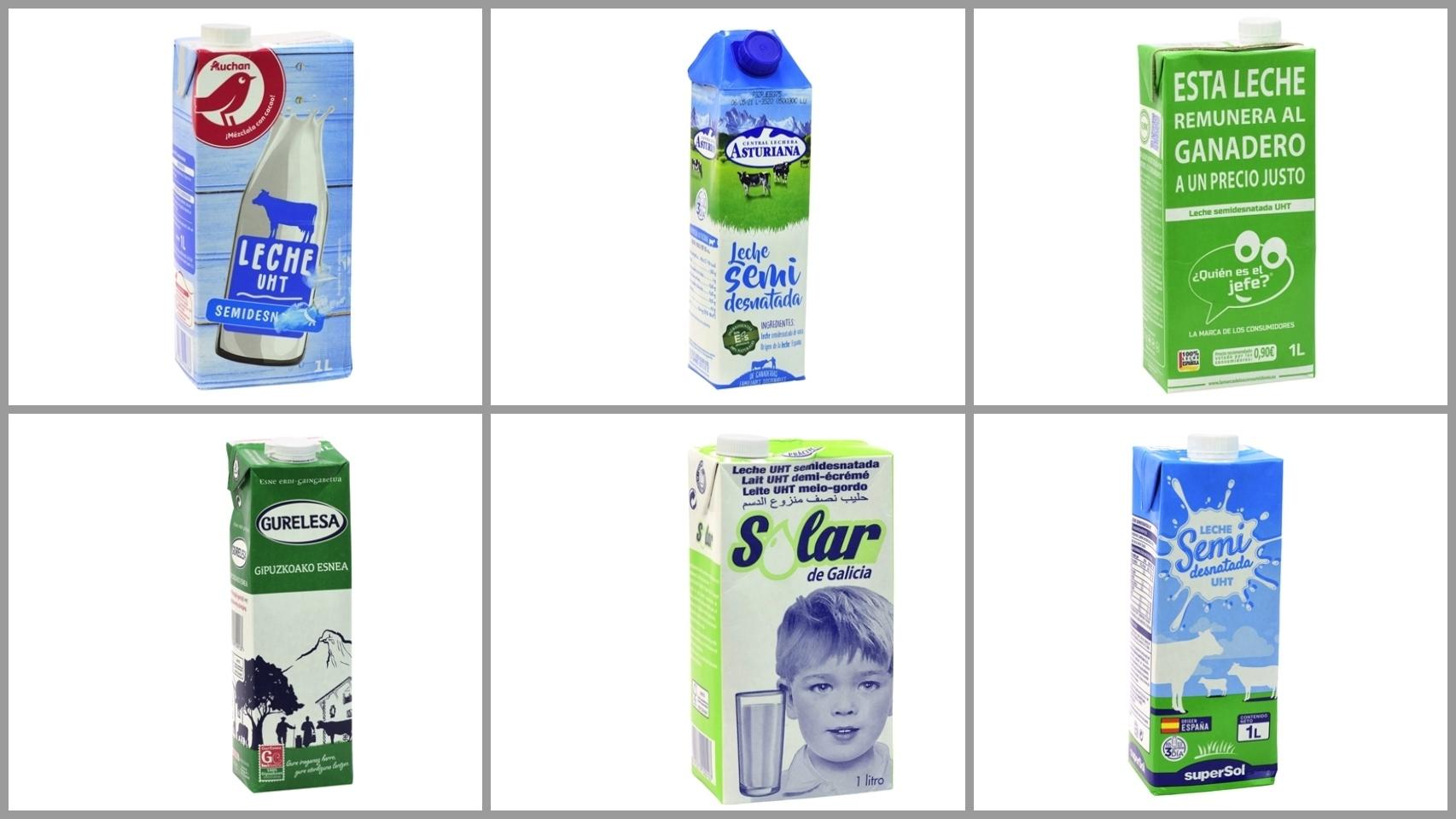 Las 12 peores leches semidesnatadas UHT