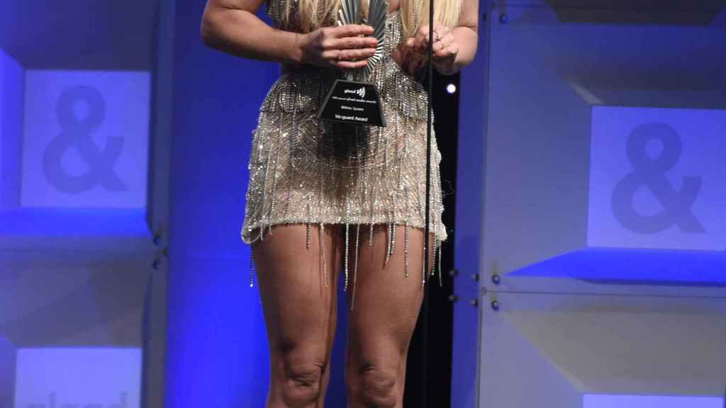 The singer during awards in Beverly Hills in 2018.