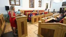 Milagros Tolón, alcaldesa de Toledo, en el Debate del Municipio. Foto: Óscar Huertas