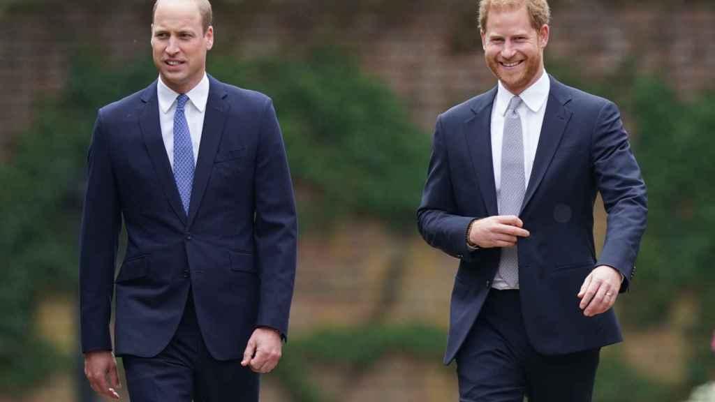 El príncipe Guillermo y Harry han aparcado sus diferencias por su madre.