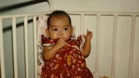 Imagen de la neerlandesa Dewi Deijle de pequeña facilitada por ella.