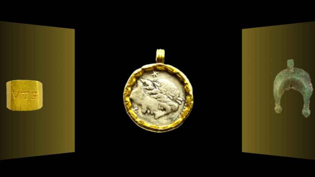 A partir del siglo II, los romanos engastaron las monedas en oro como a las gemas, convirtiéndolas en joyas, moda que se extendió durante todo el siglo III y IV.