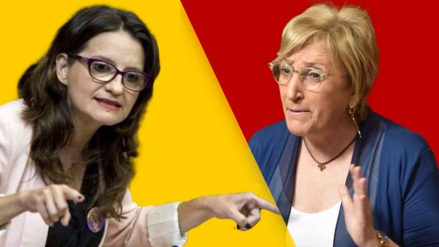 Mónica Oltra (Compromís) y Ana Barceló (PSOE).