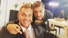 Martin Czehmester y Abraham García, concursante de 'Gandía Shore' en una foto de Twitter