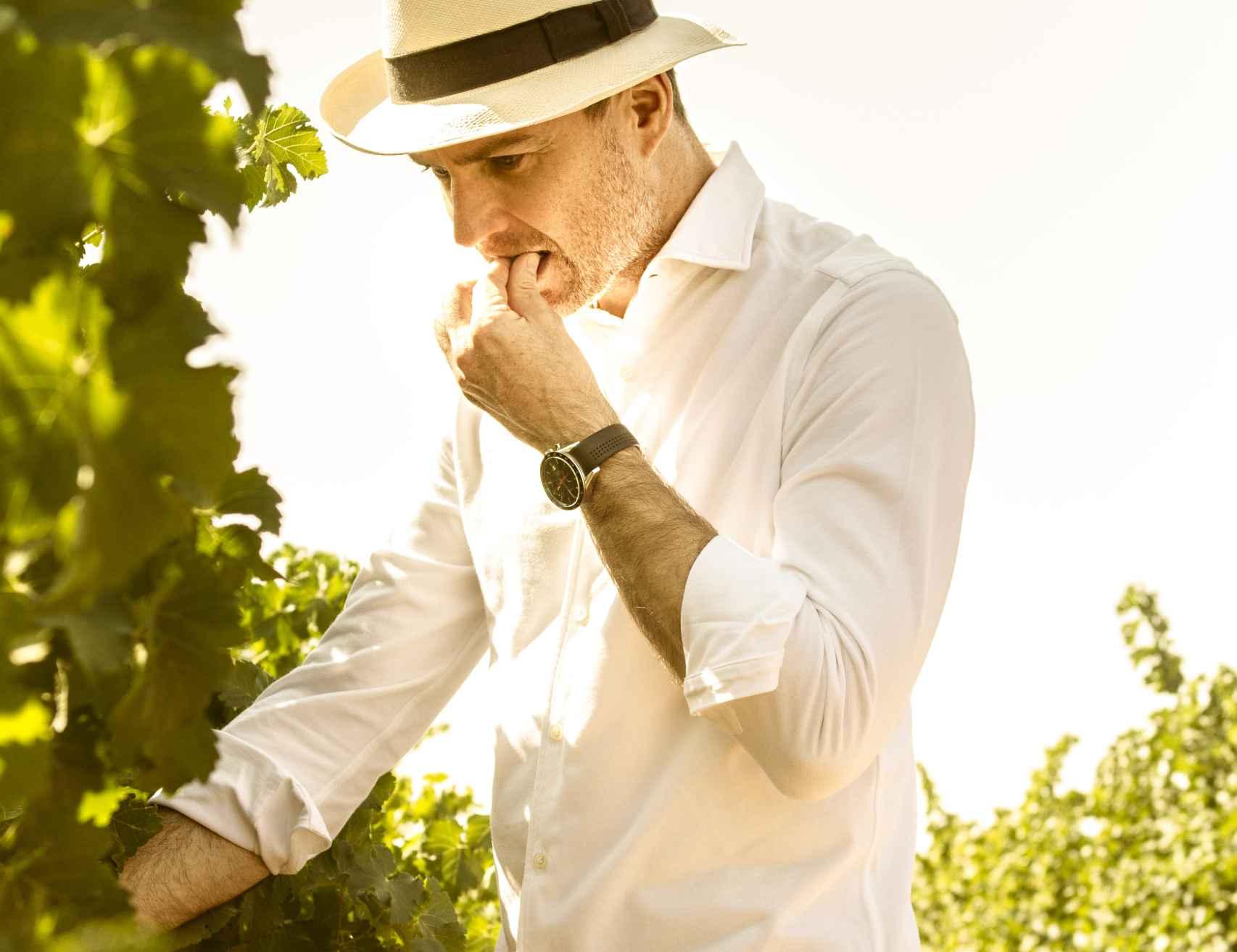Andreas Kubach MW en el viñedo.