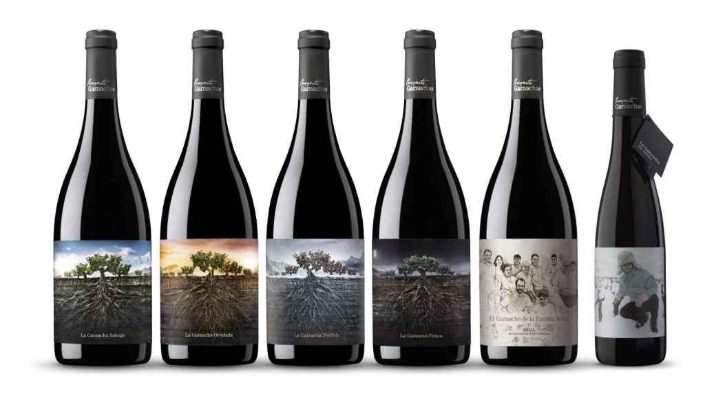 Línea de vinos del Proyecto Garnachas de Vintae.