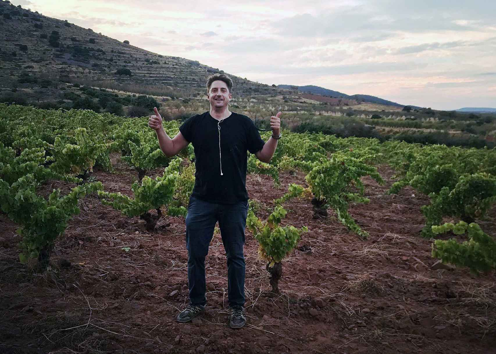 Michael Cooper, 'winegrower' de Vinos del Viento.